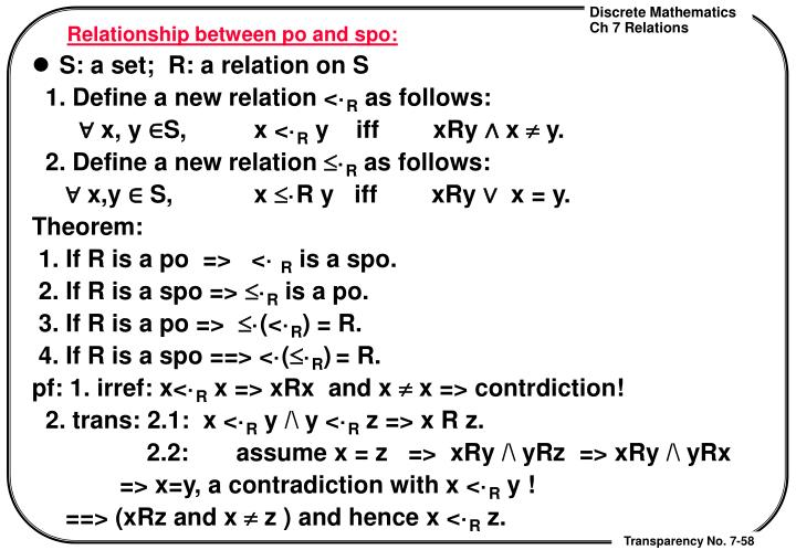 Relationship between po and spo: