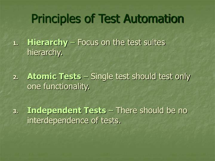 Principles of Test Automation