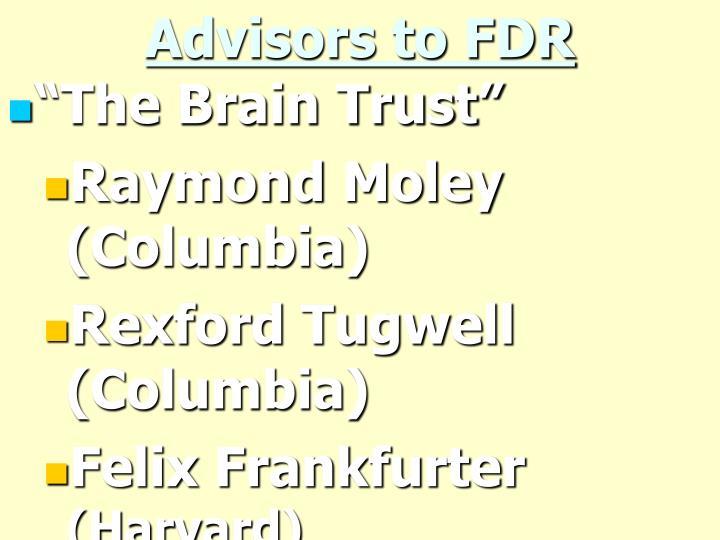 Advisors to FDR