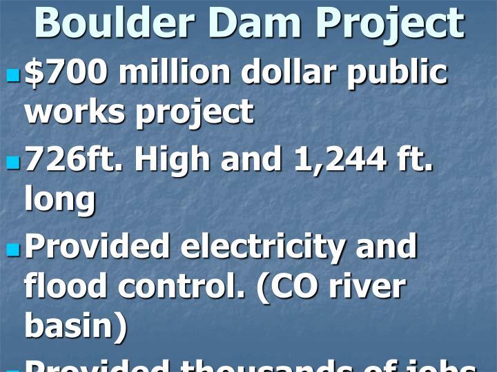 Boulder Dam Project