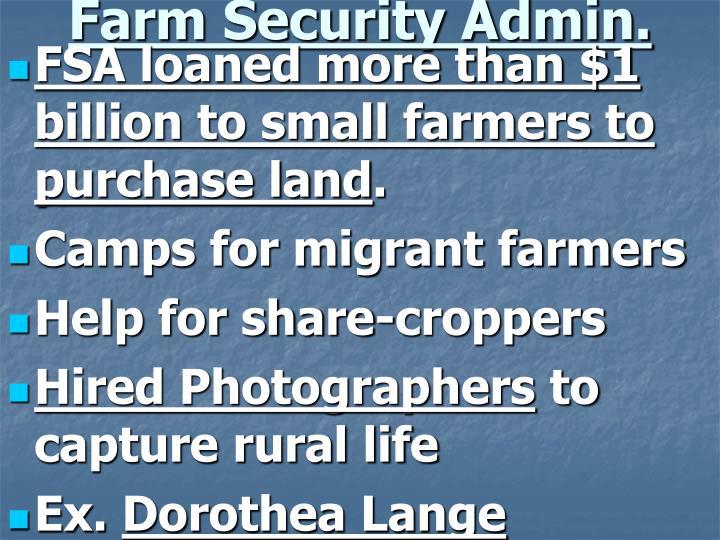 Farm Security Admin.
