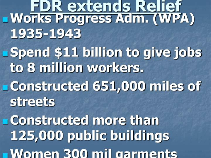 FDR extends Relief