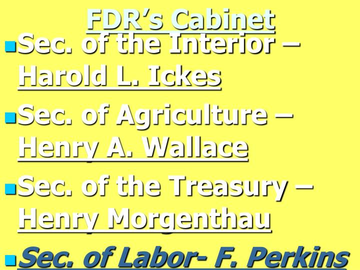 FDR's Cabinet