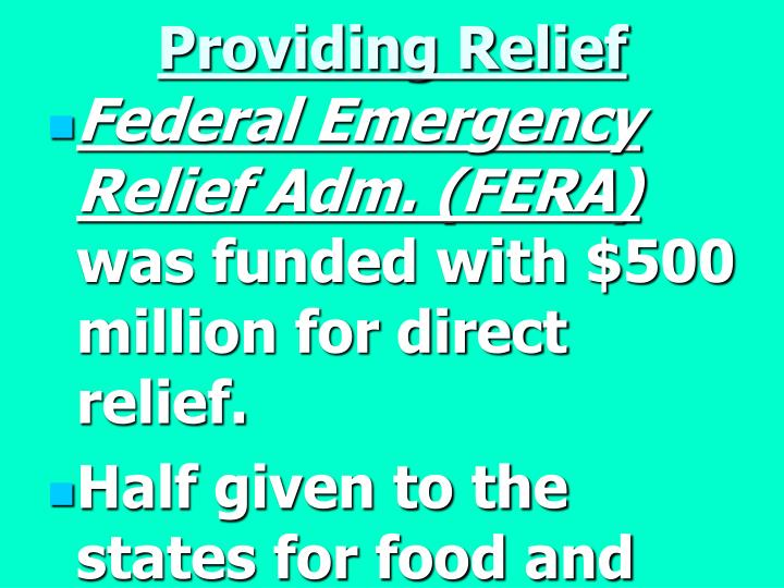 Providing Relief