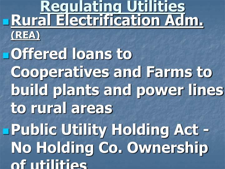 Regulating Utilities