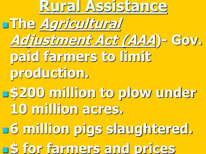 Rural Assistance
