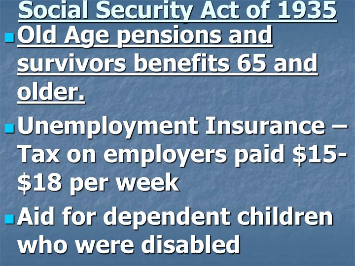 Social Security Act of 1935