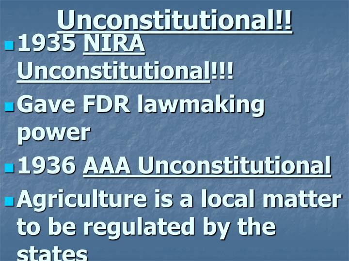 Unconstitutional!!