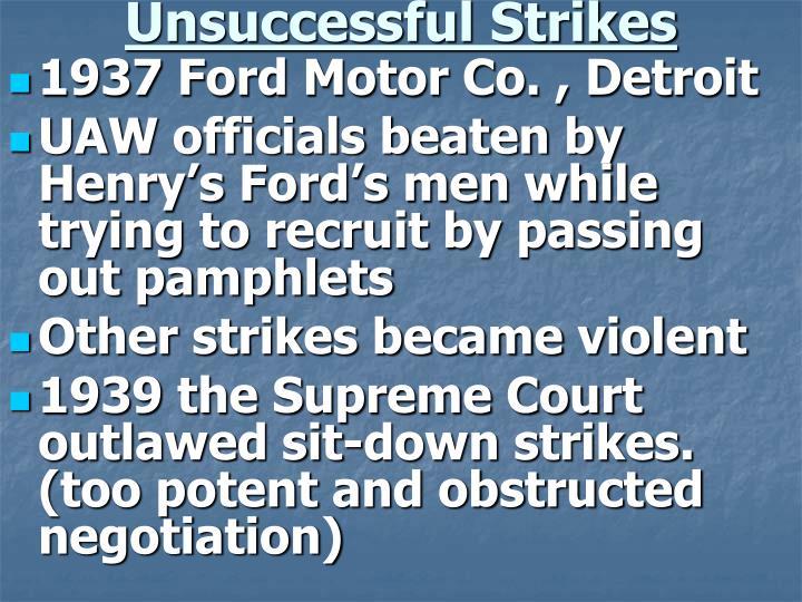 Unsuccessful Strikes