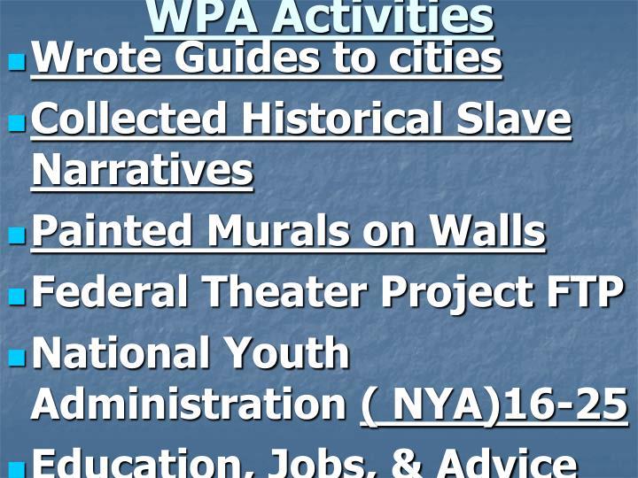 WPA Activities