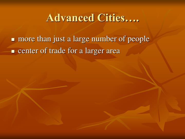 Advanced Cities….