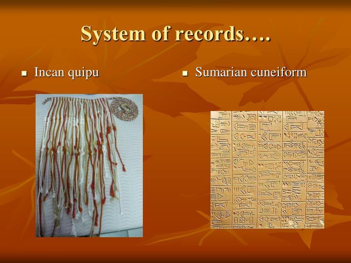 Incan quipu
