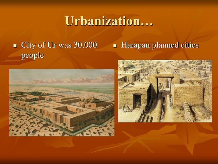 City of Ur was 30,000 people