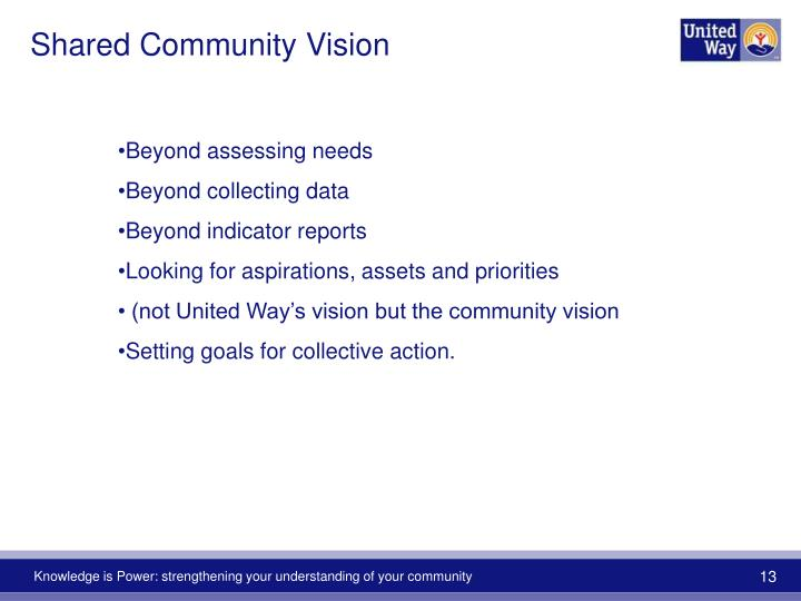 Shared Community Vision