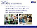 the work united way of northeast florida
