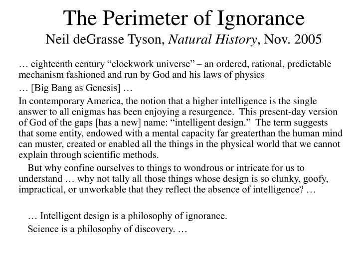 The Perimeter of Ignorance