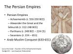 the persian empires