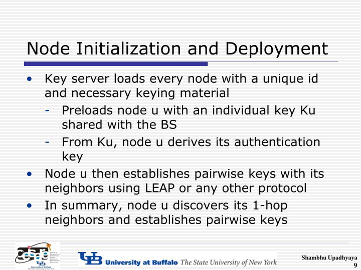 Node Initialization and Deployment