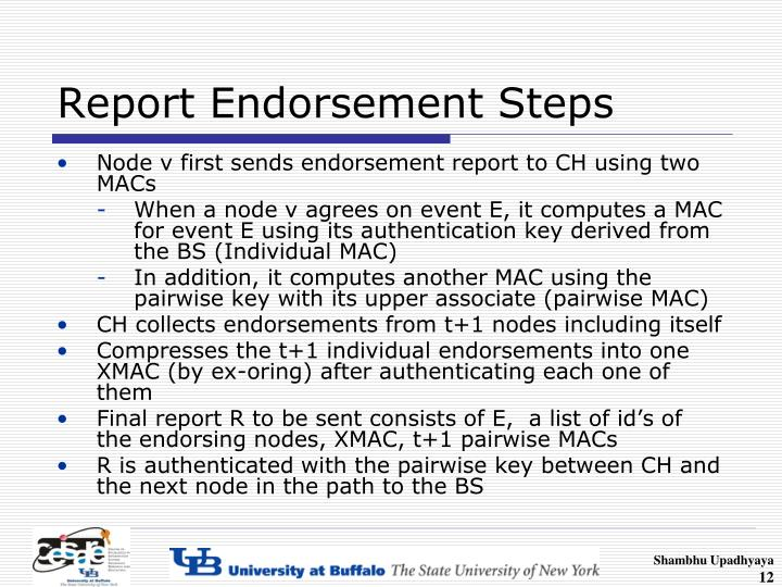 Report Endorsement Steps