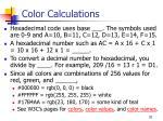 color calculations