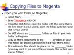copying files to magenta