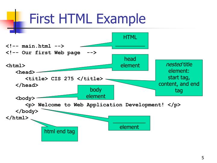 First HTML Example