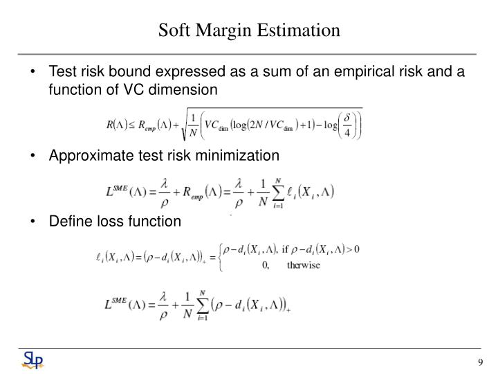 Soft Margin Estimation
