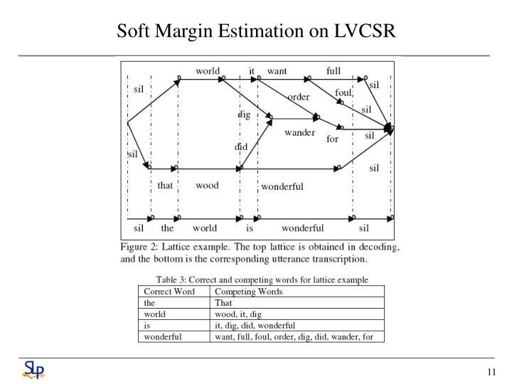 Soft Margin Estimation on LVCSR