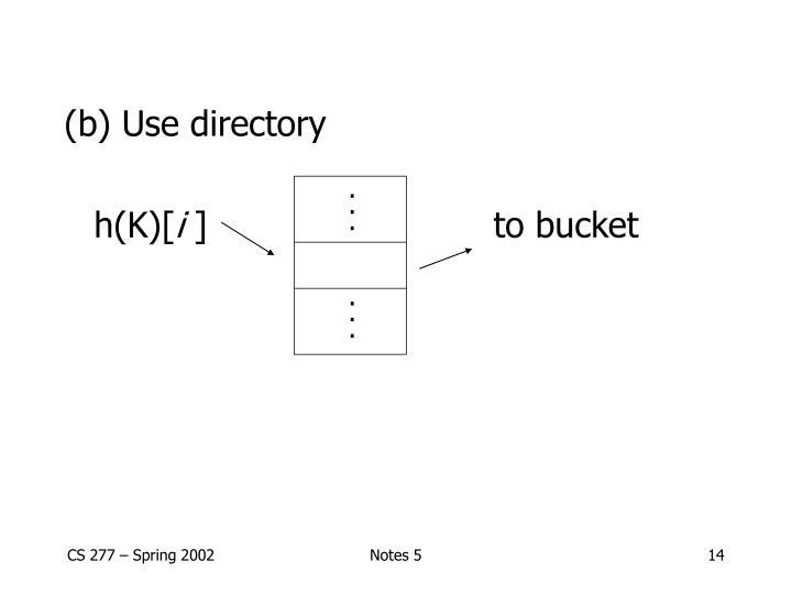 (b) Use directory