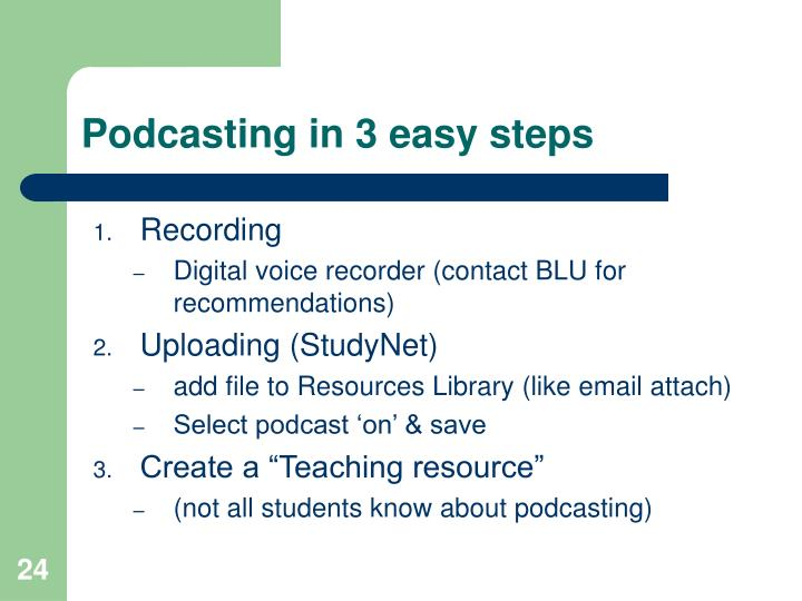 Podcasting in 3 easy steps