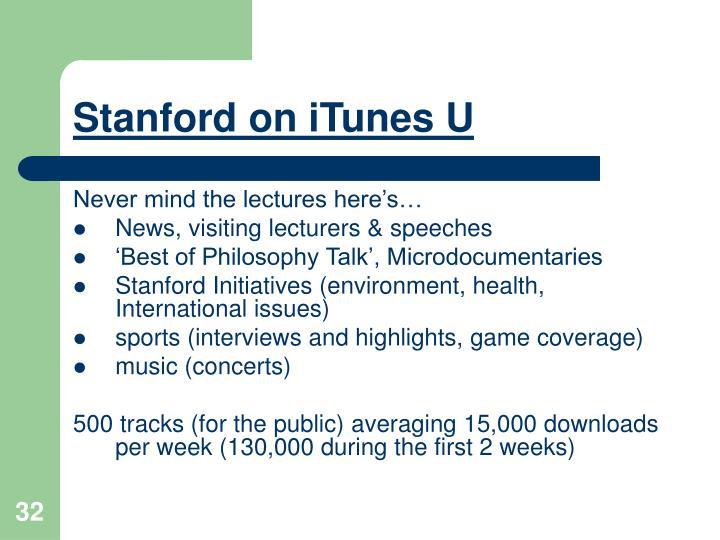Stanford on iTunes U
