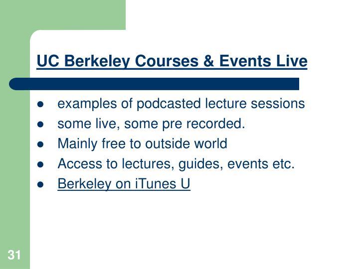 UC Berkeley Courses & Events Live