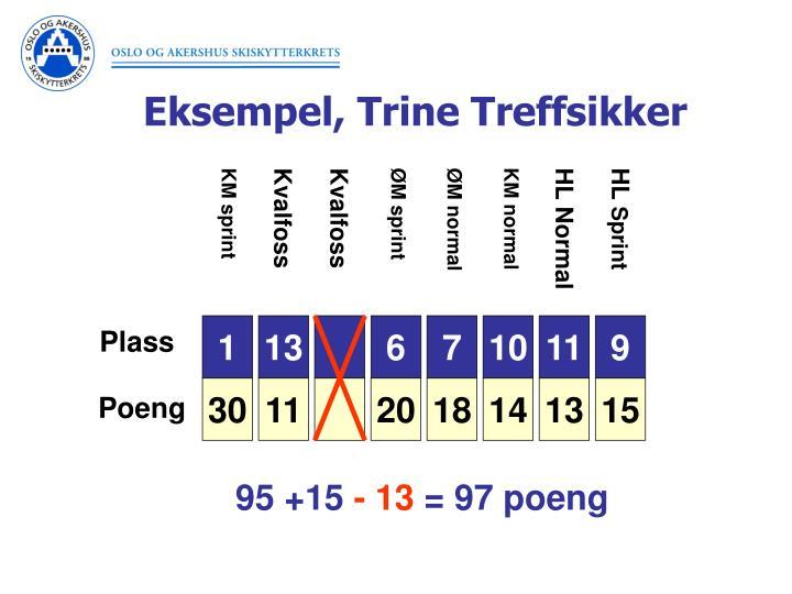 Eksempel, Trine Treffsikker