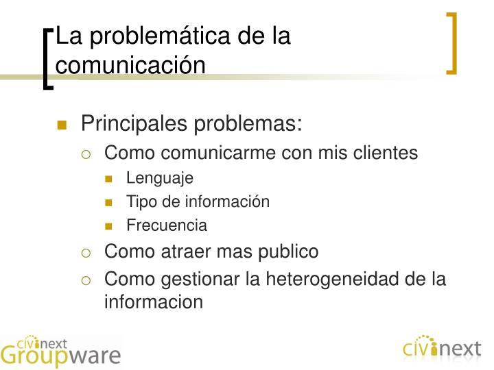 La problemática de la comunicación