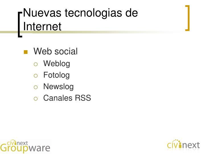 Nuevas tecnologias de Internet