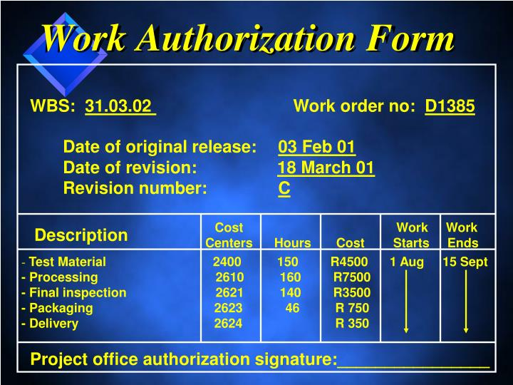 Work Authorization Form