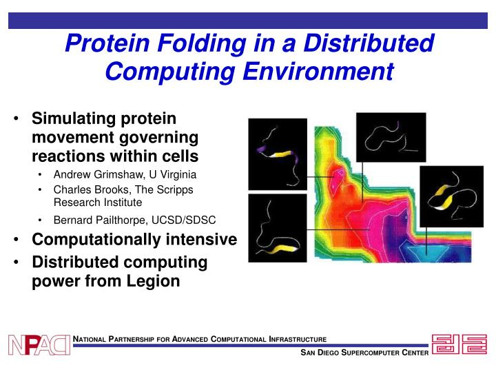 Protein Folding in a Distributed Computing Environment