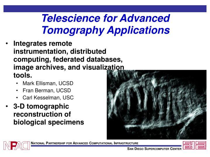 Telescience for Advanced