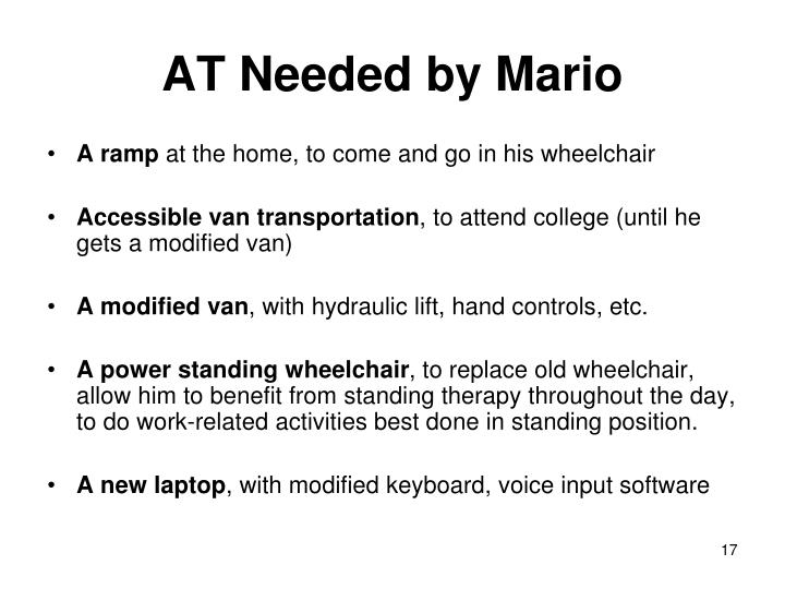 AT Needed by Mario