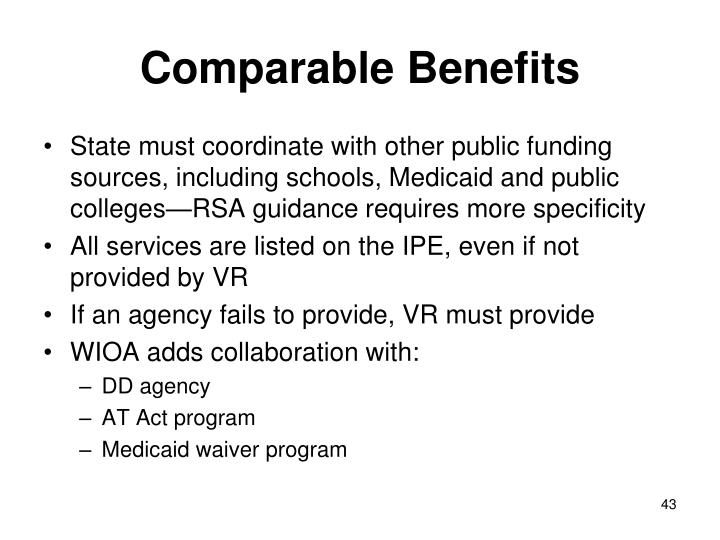 Comparable Benefits