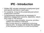 ipe introduction