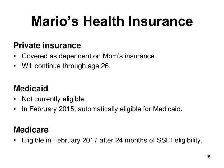 Mario's Health Insurance