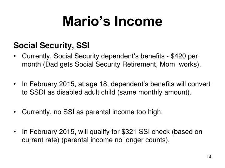 Mario's Income