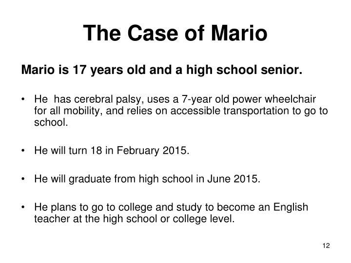 The Case of Mario
