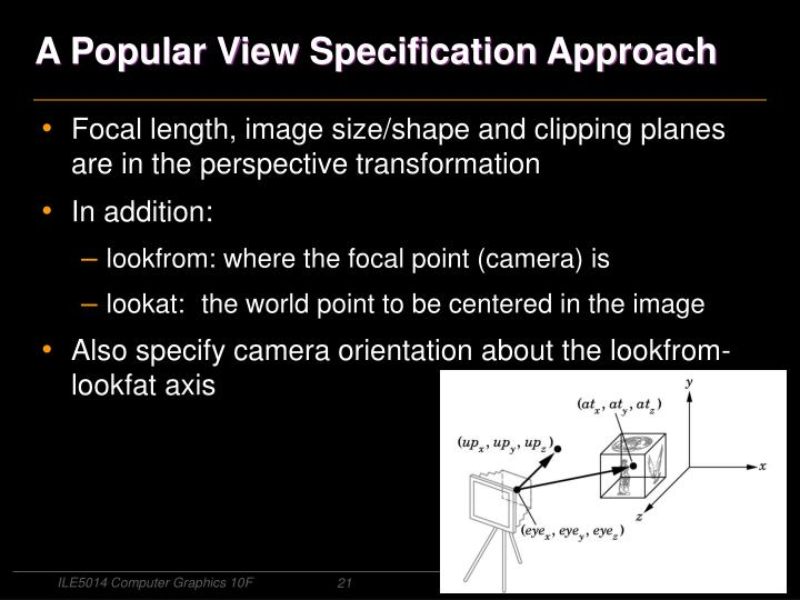 A Popular View Specification Approach