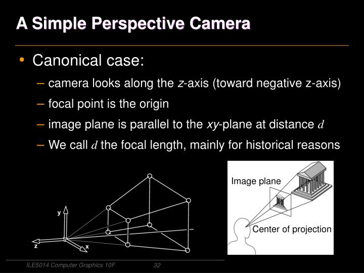 A Simple Perspective Camera