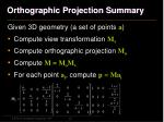 orthographic projection summary1