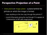 perspective projection of a point