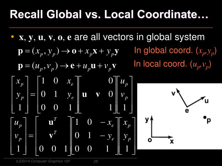 Recall Global vs. Local Coordinate…