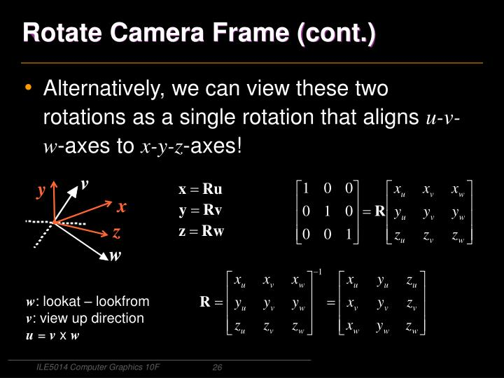 Rotate Camera Frame (cont.)